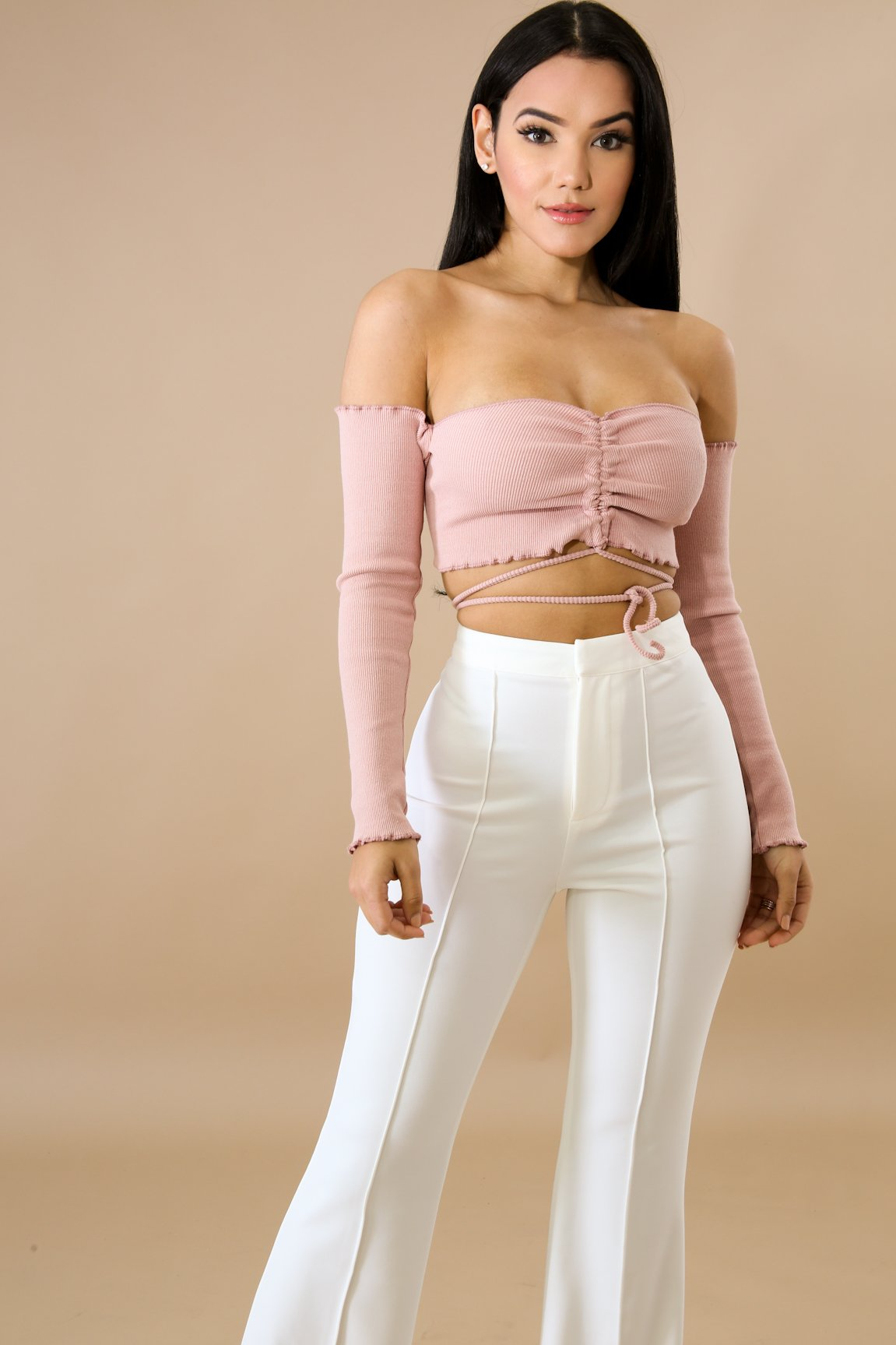 Mini Scallop Crop Top