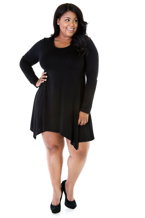 Trapeze Artist Flared Shirt Dress II