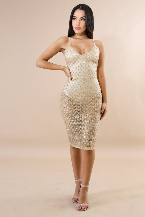 Glitter Dash Body-Con Dress