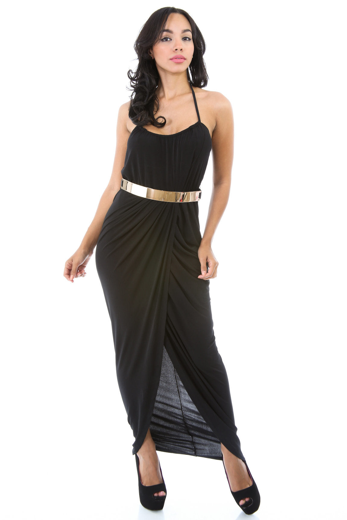 Diagonal Maxi Dress