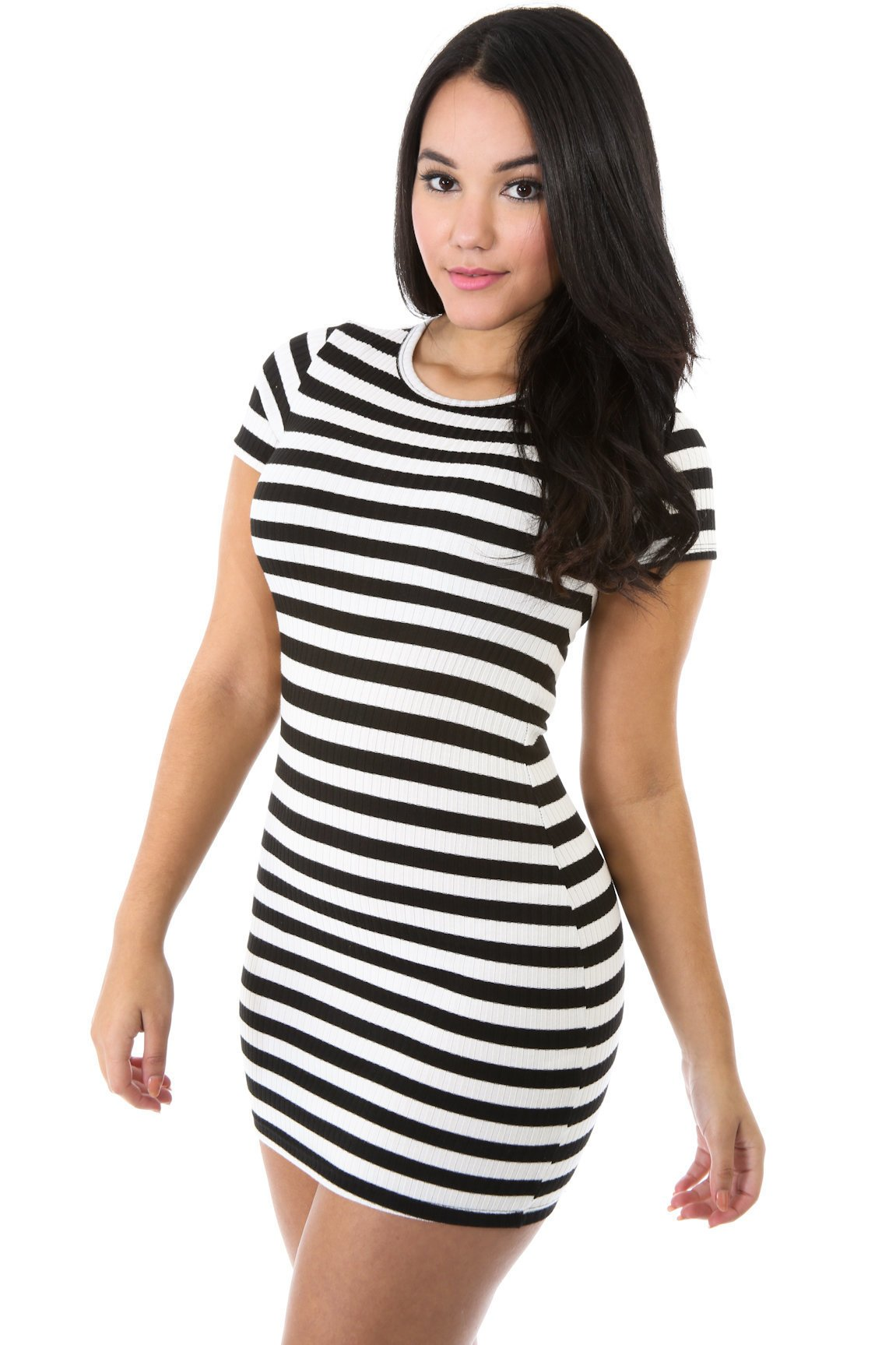 Striped out Gesture Dress