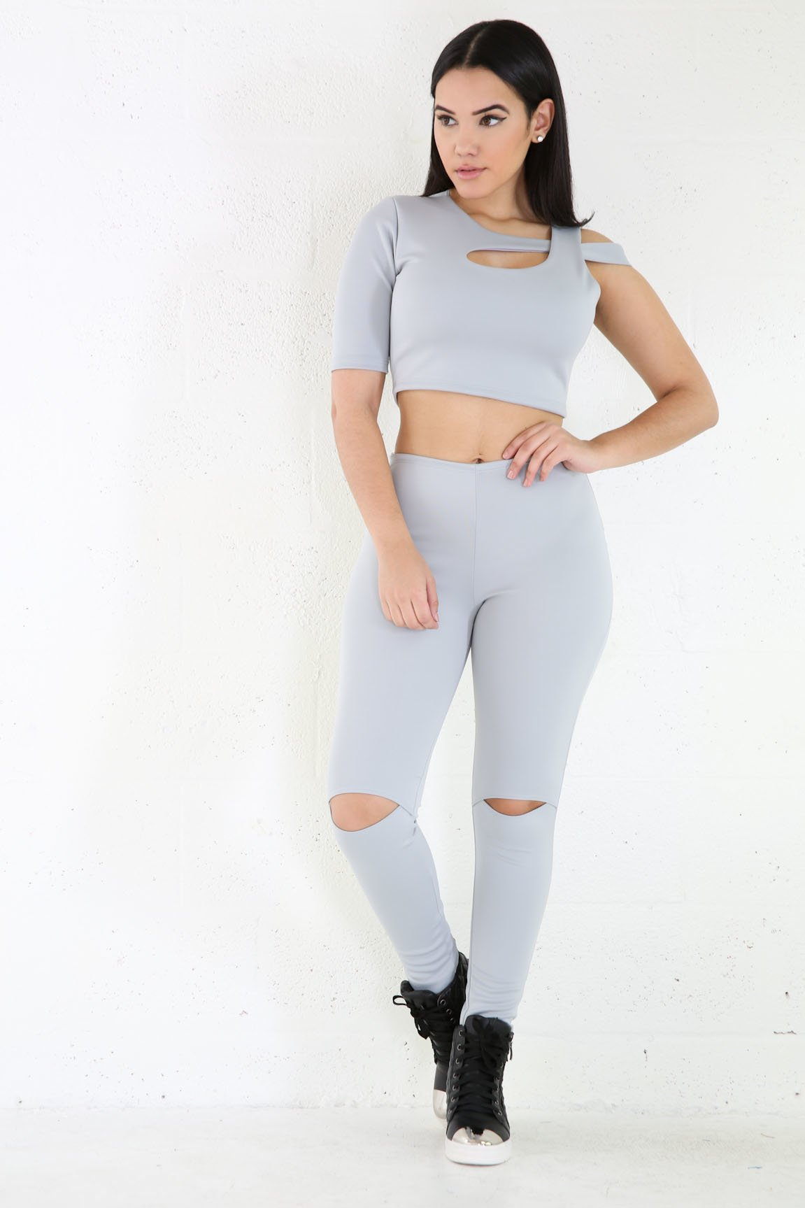 One Sleeve Fit Jumpsuit Set