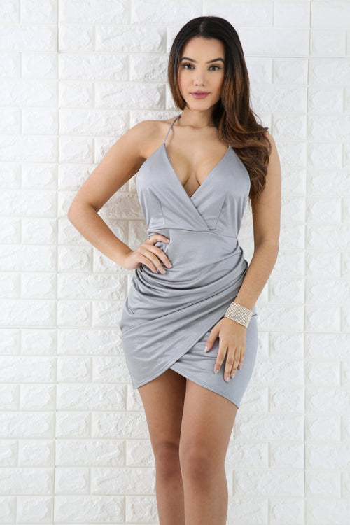 Overlay Silky Mini Dress