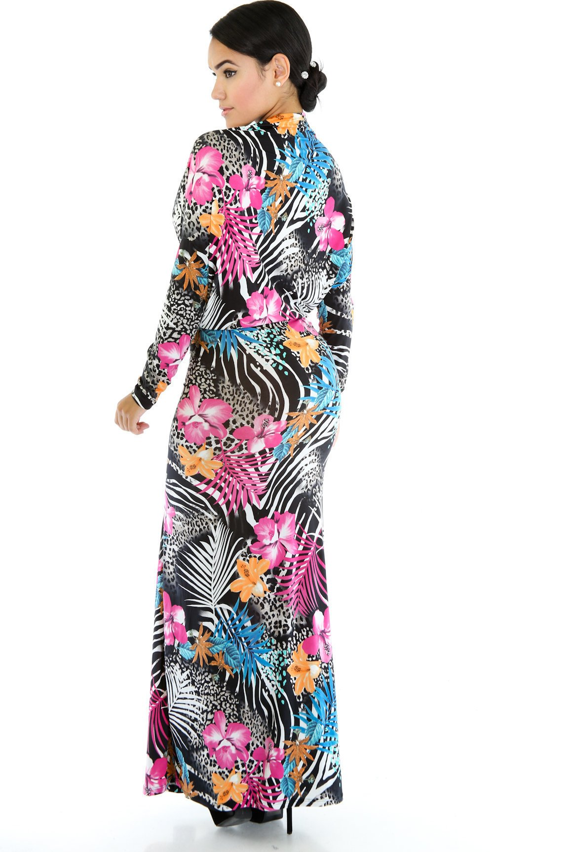 Zebra Forest Maxi Dress