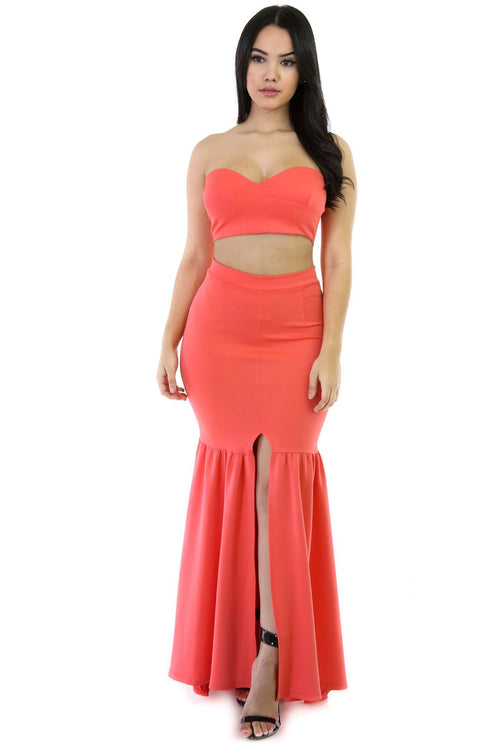 Two Piece Water Girl Maxi Set