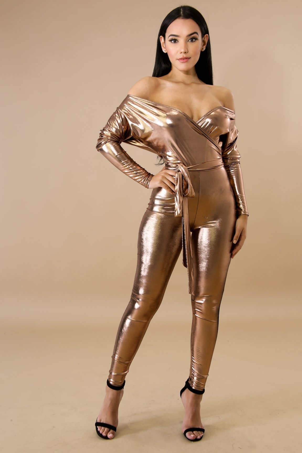 Metallic Shine Jumpsuit