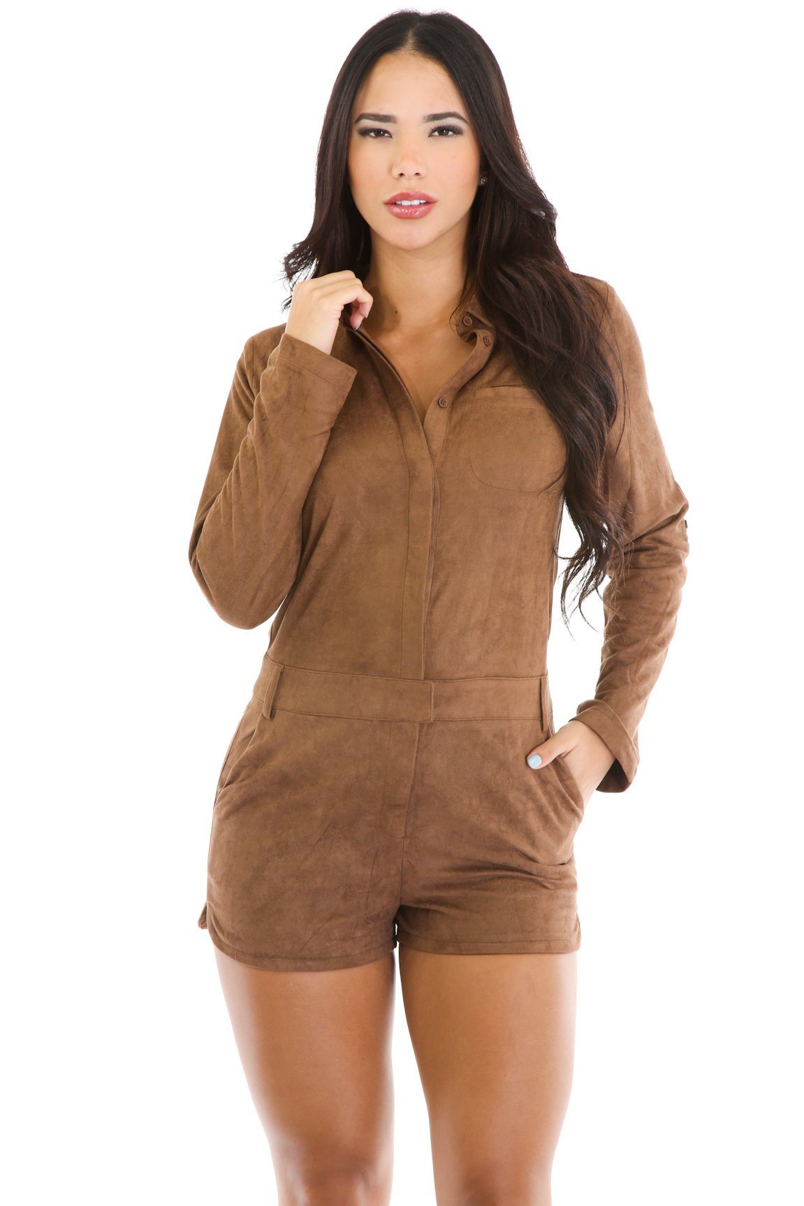 Feel My Suede Romper