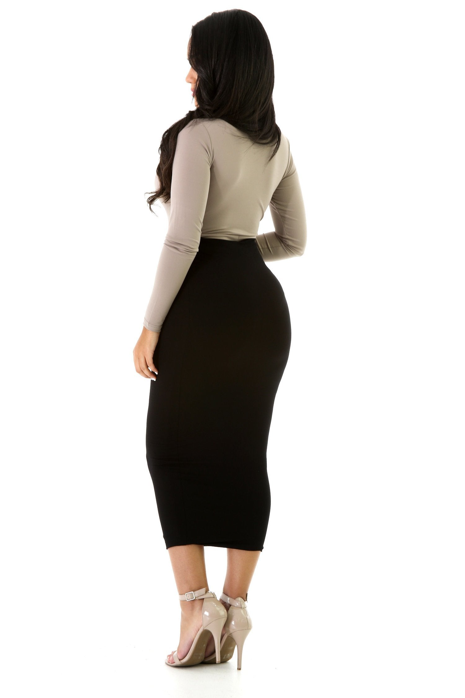 Classic Knit Pencil Skirt
