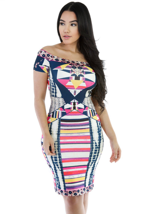 Abstract Shape Dress