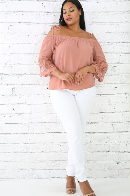 Scallop Sleeve Top