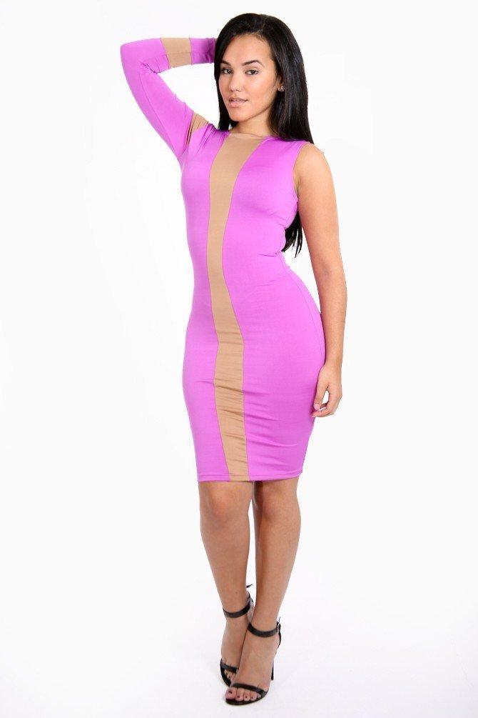 Half Cut Bodycon Dress