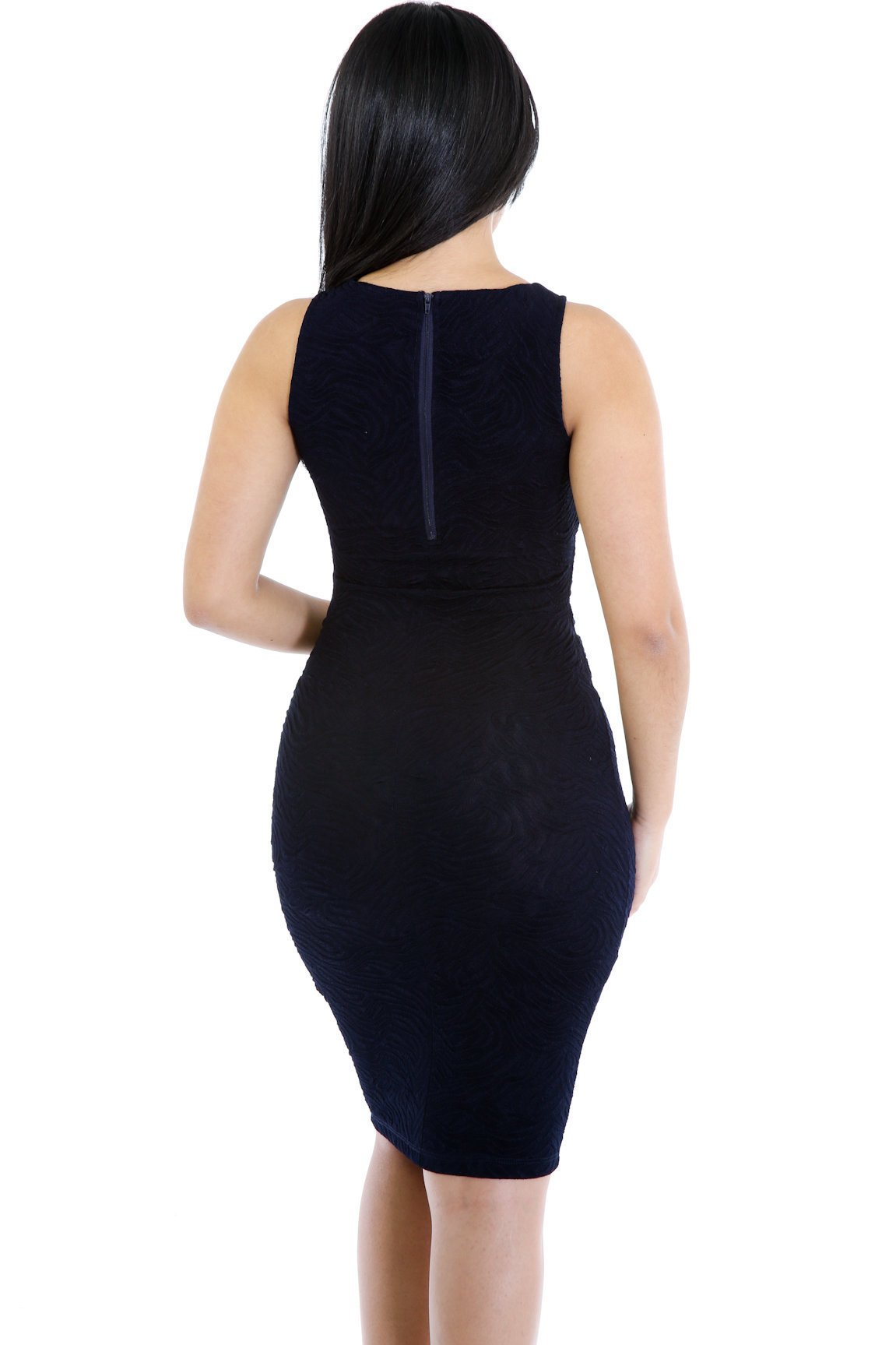 Texture In Me Midi Bodycon Dress
