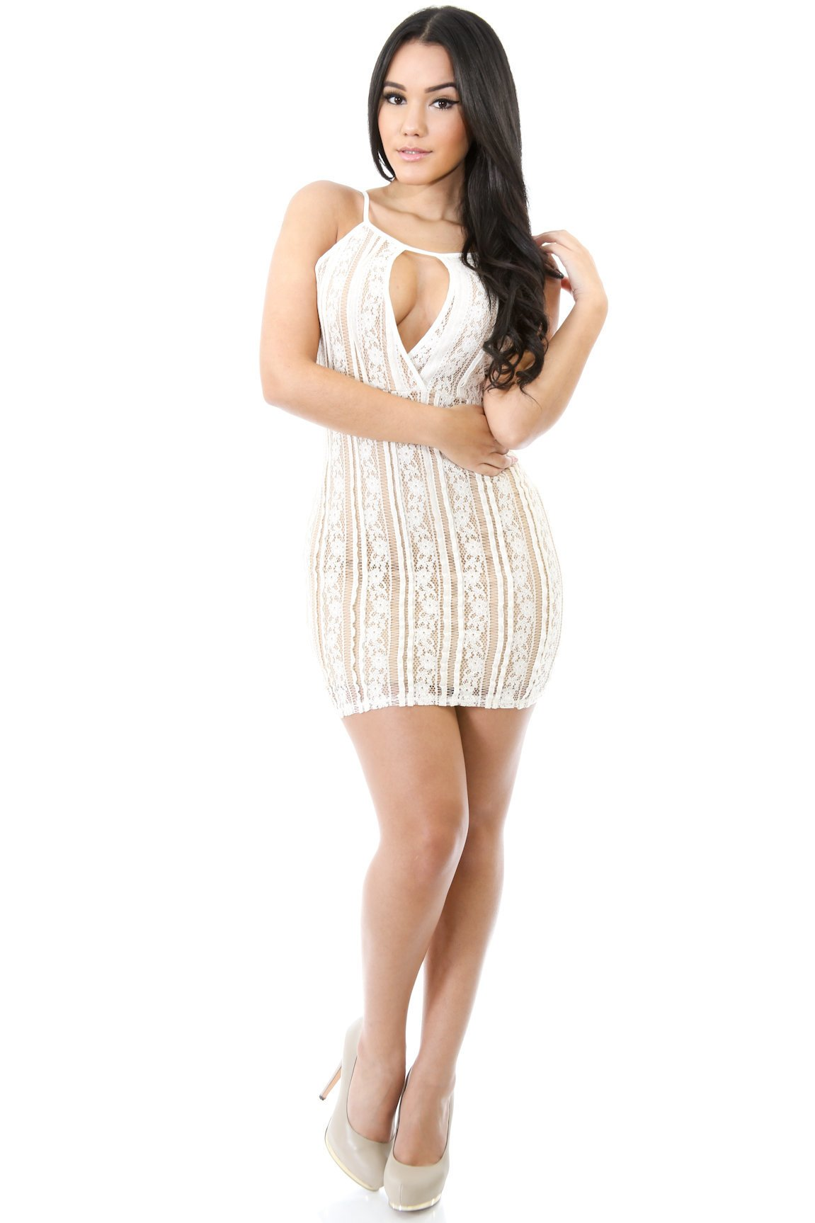 Lined Up Laced Dress