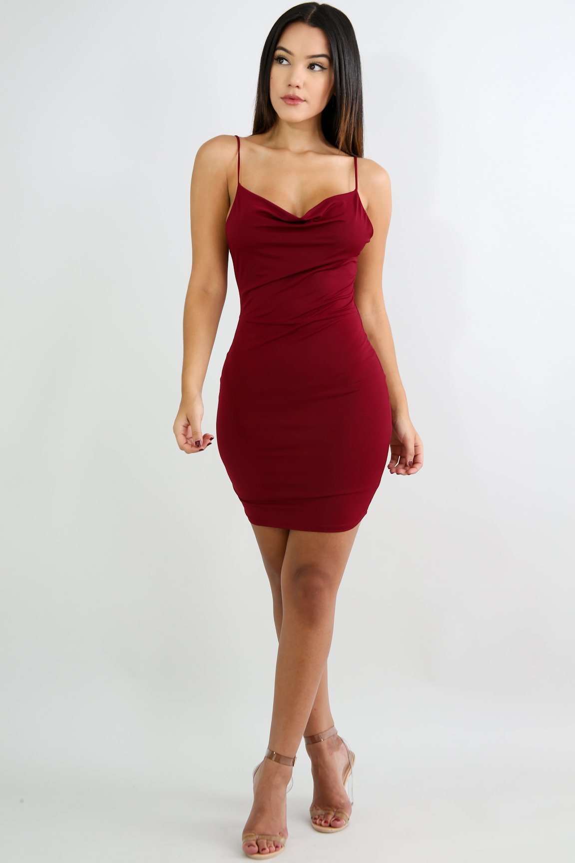 Mini Drape Body-Con Dress