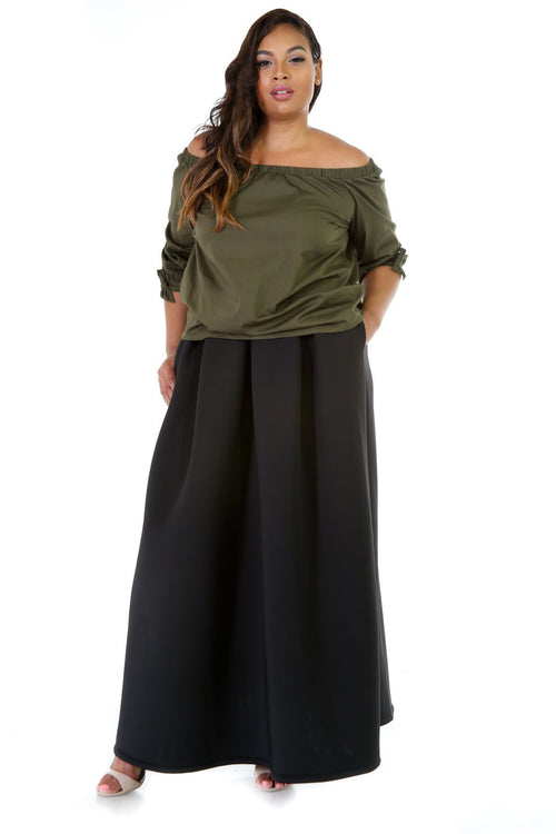 Off-Shoulder Loose Fit Top