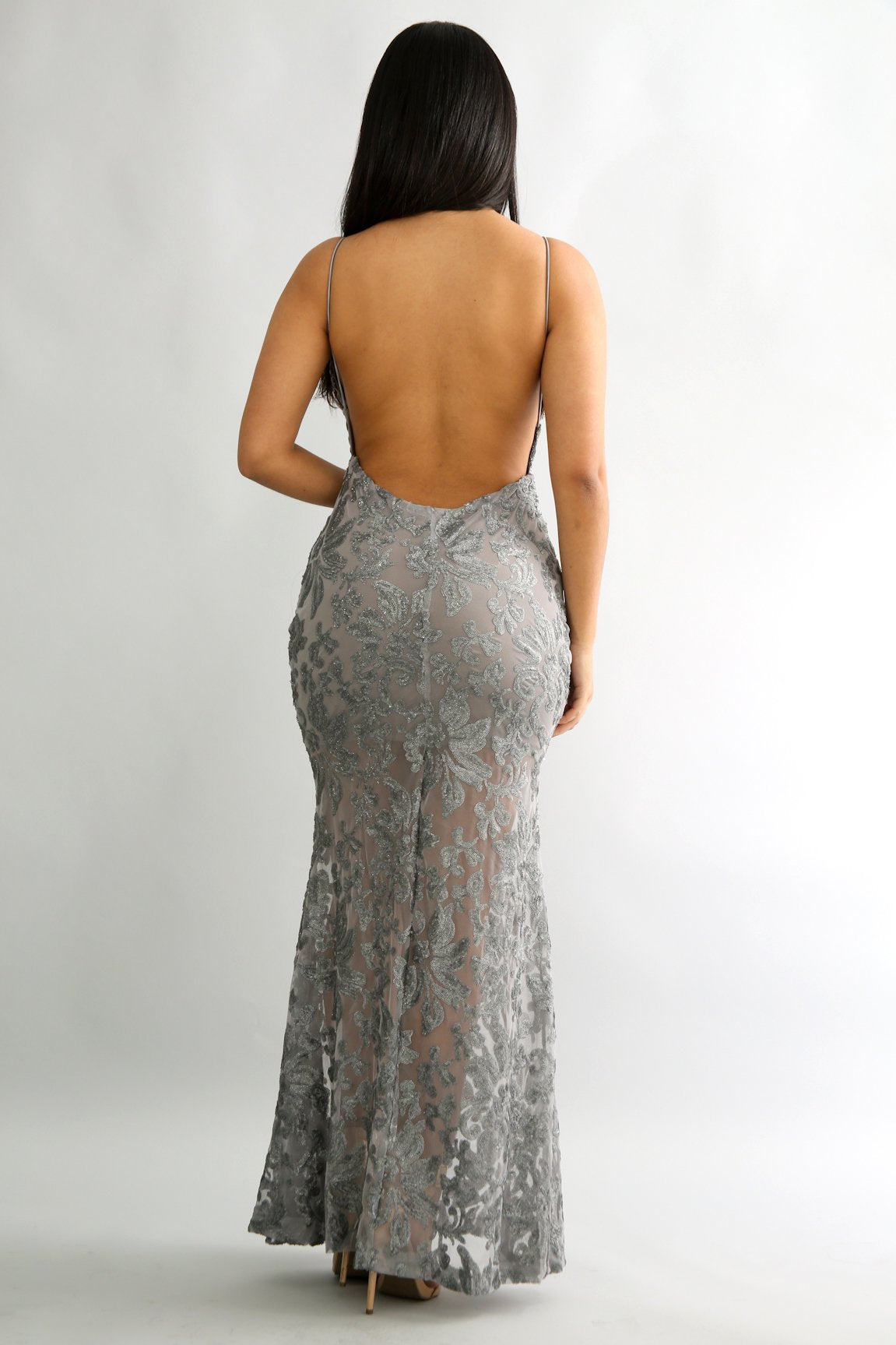 Speckled Glitter Sequin Maxi Dress