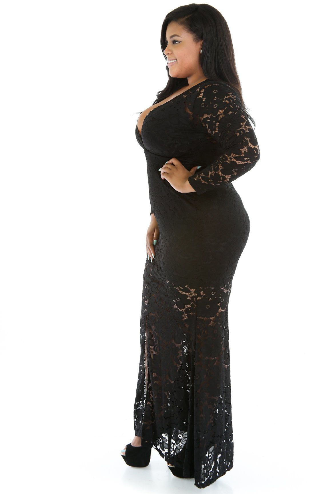 Seamless Lace Maxi Dress