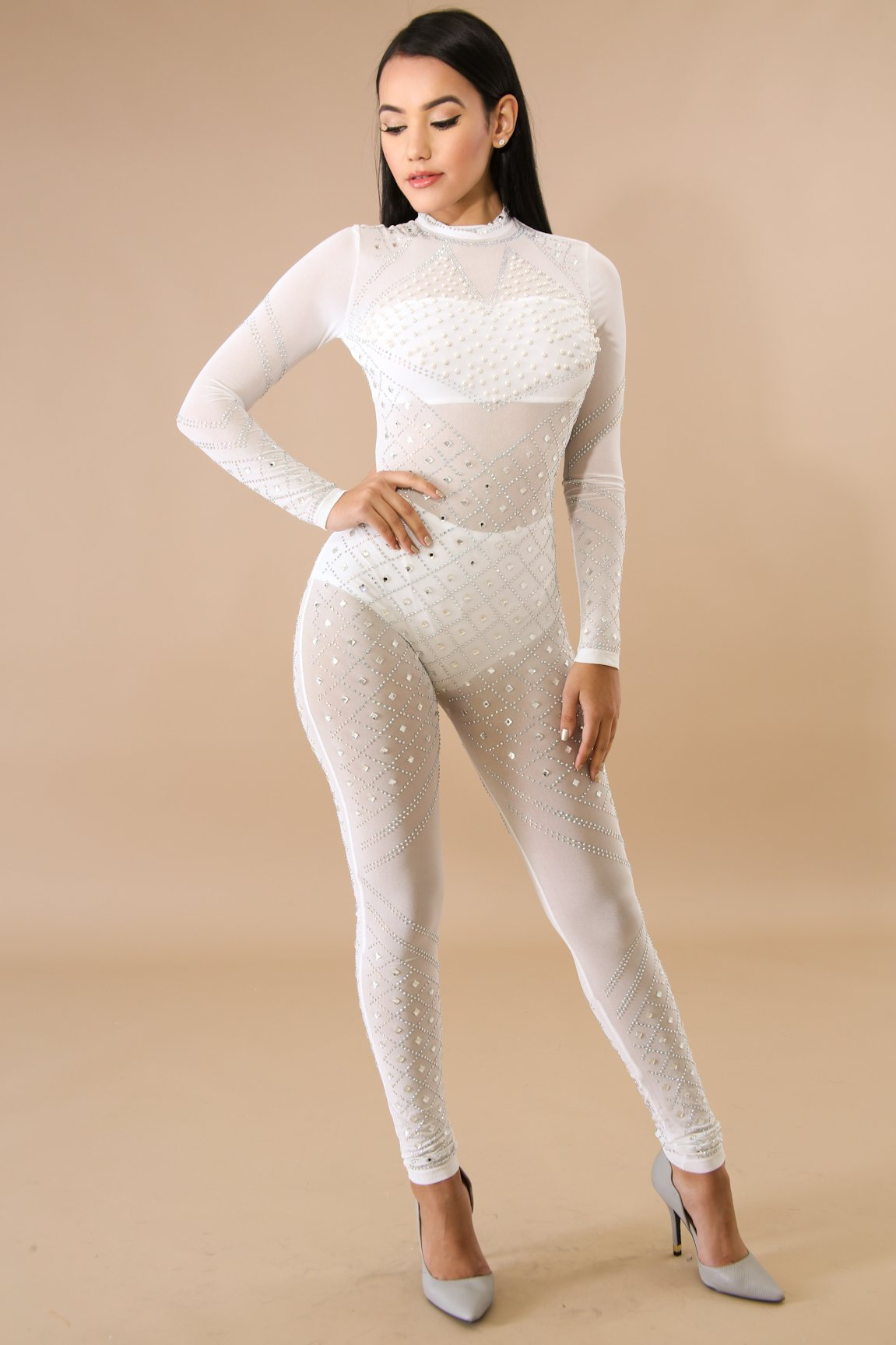 Pearl Heart Jumpsuit