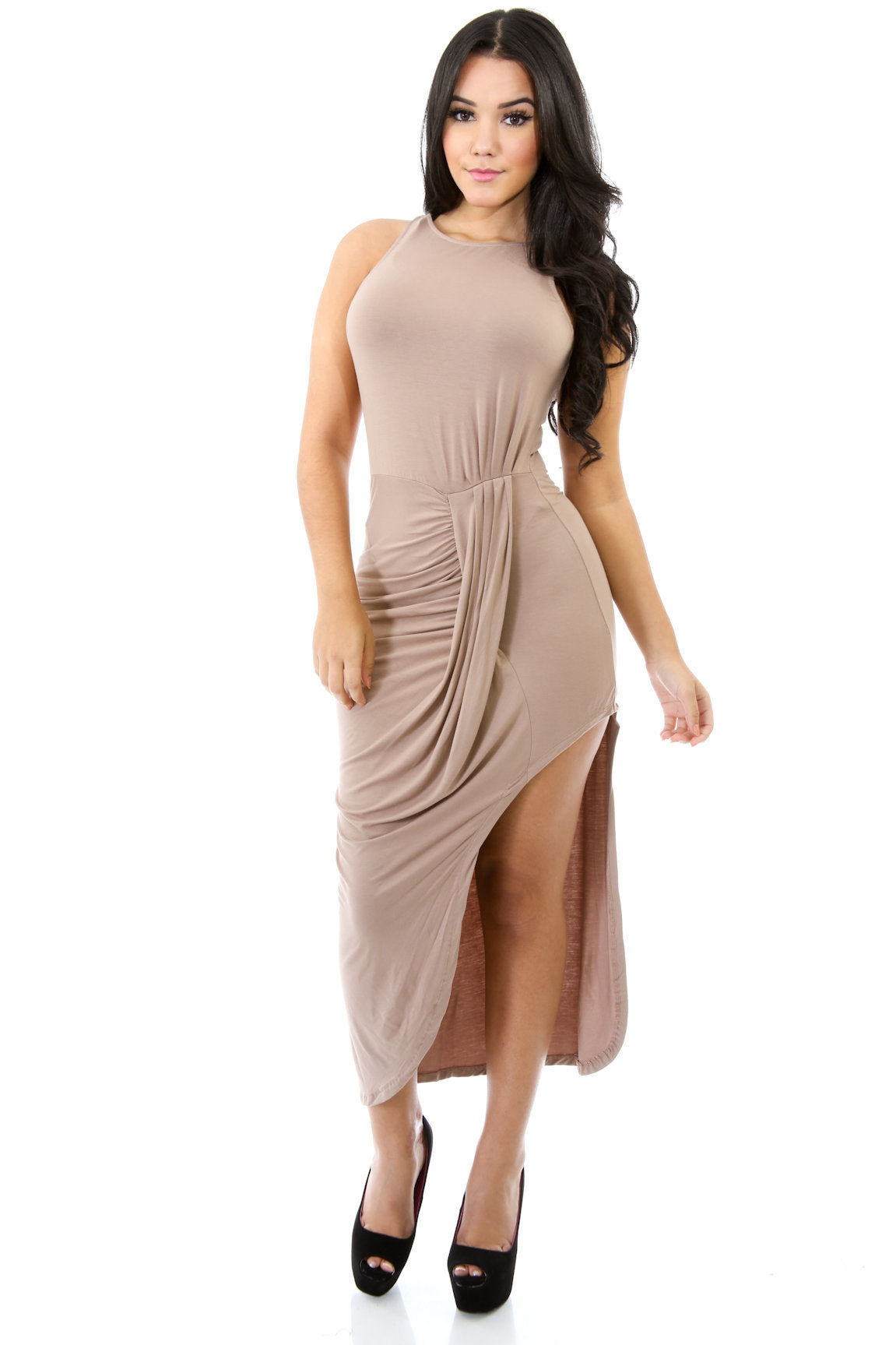 Deluxe Mix Drape Dress