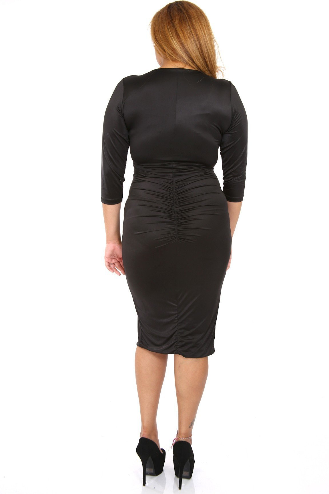 Scrunch Me On Half Sleeve Bodycon Dress