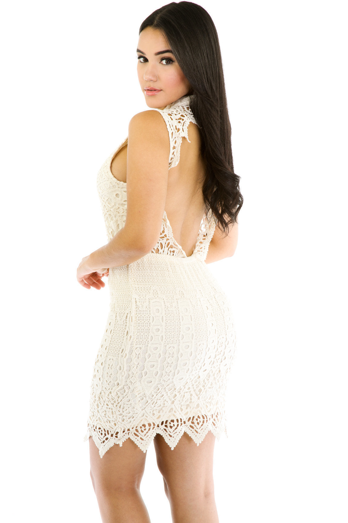 Crochet Cutout Dress
