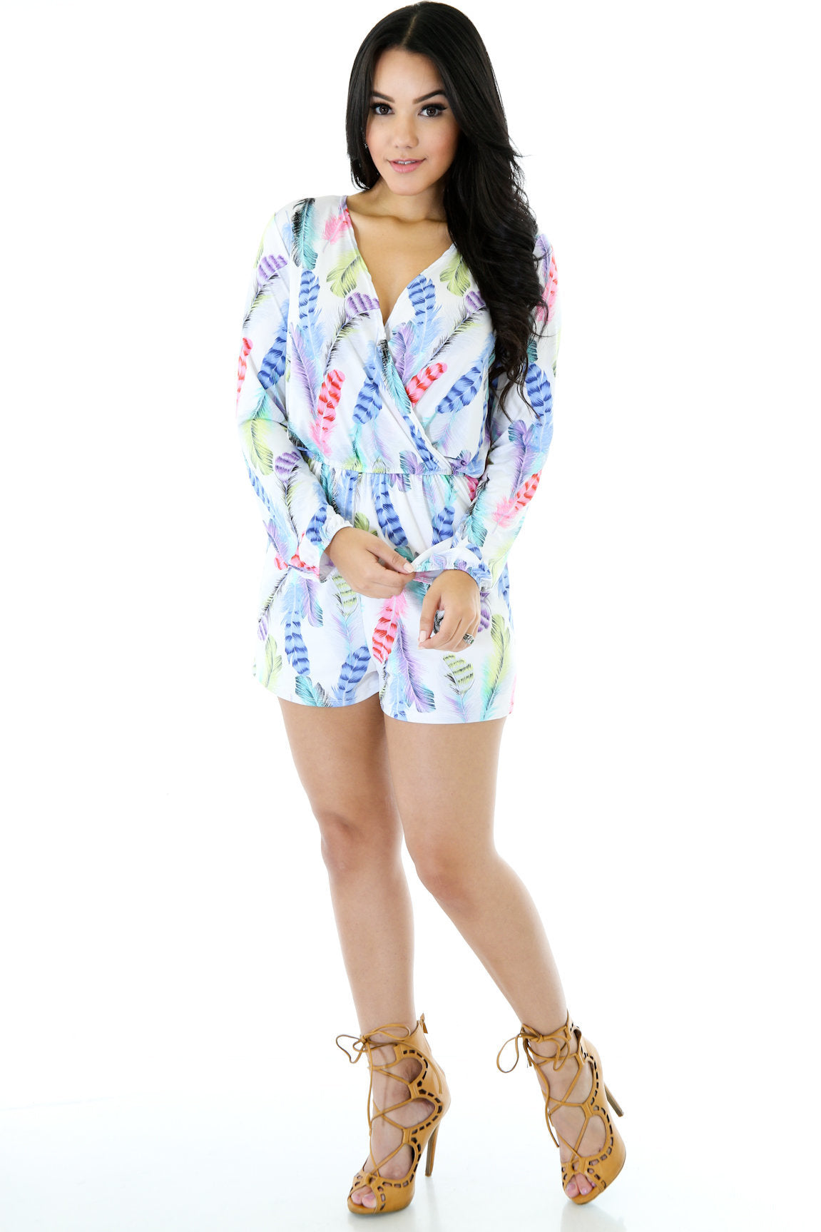 Loose Feathers Romper
