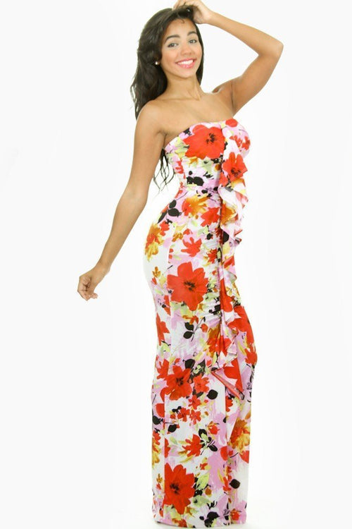 Sleeveless Flower Bomb Dress