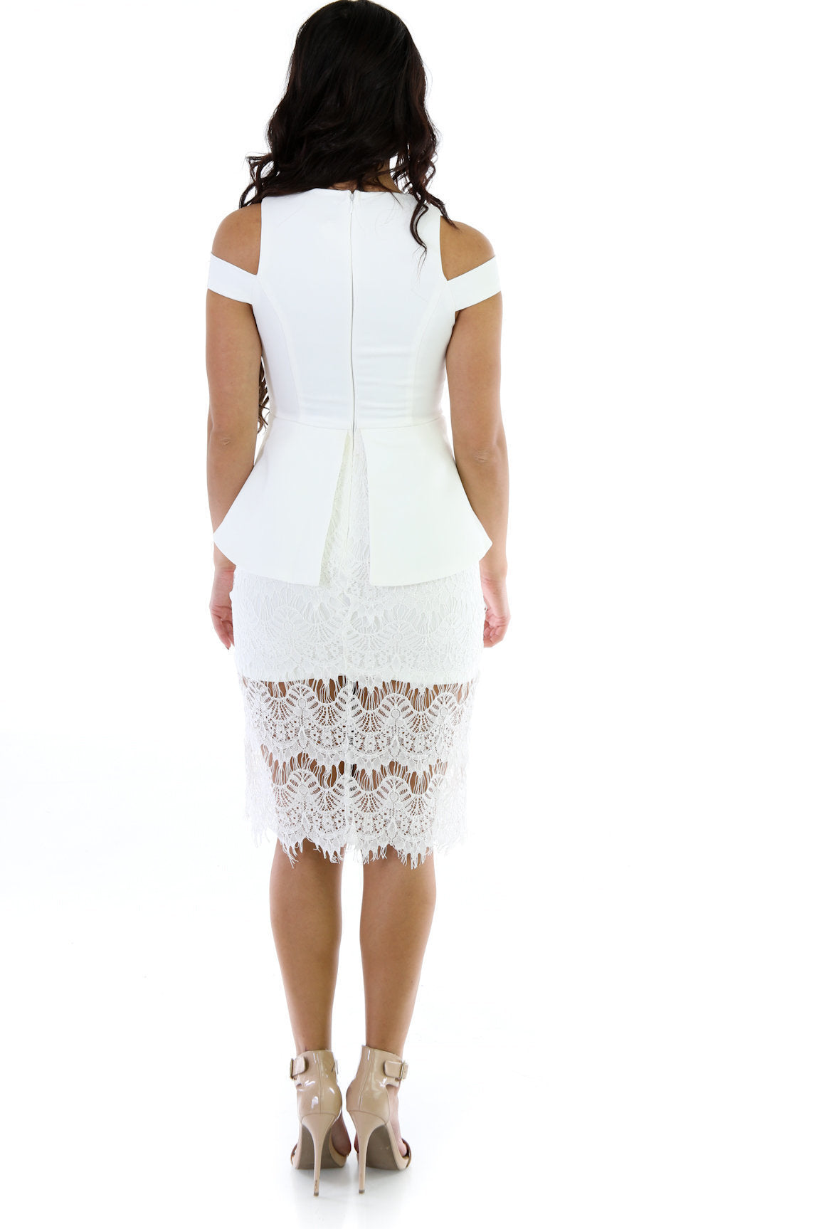 Ace Of Lace Peplum Dress