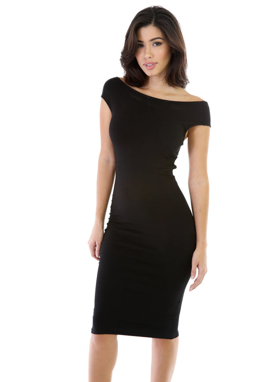 Crisscross Back Sleeveless Bodycon Dress