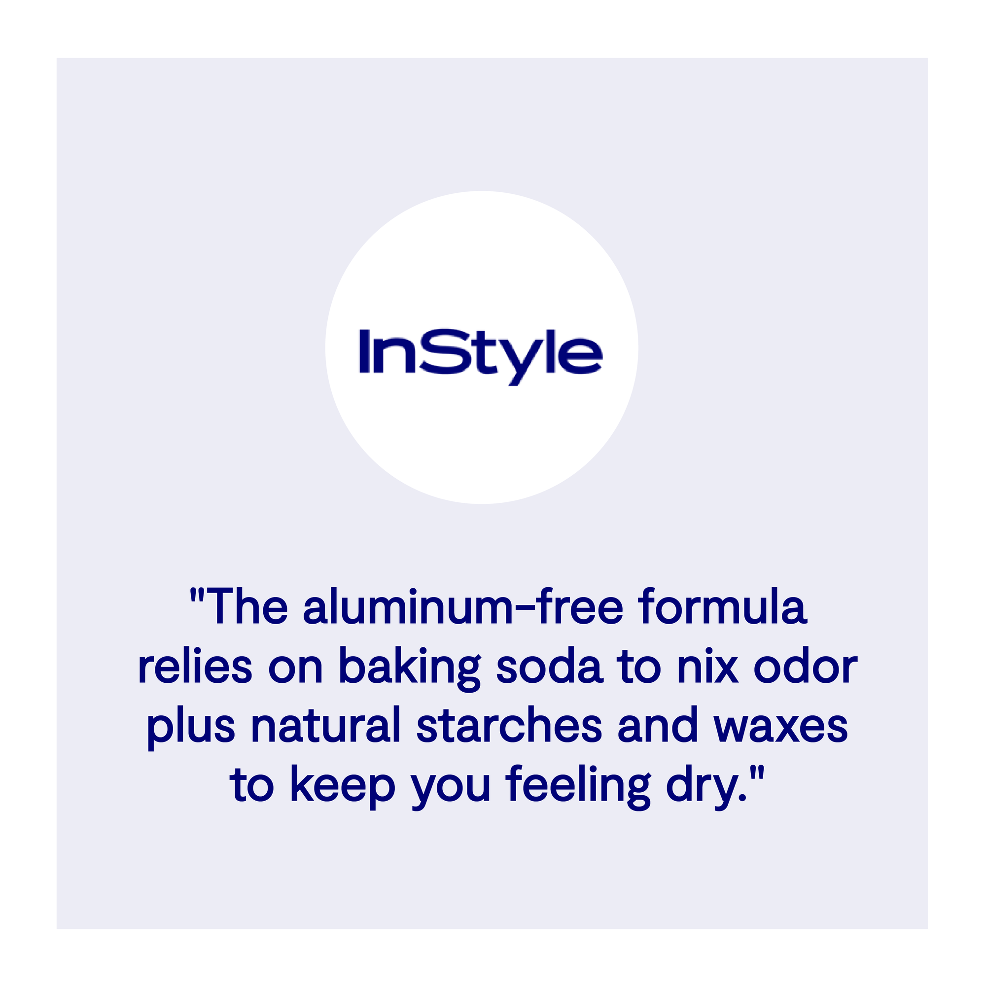 Instyle best aluminum free deodorant testimonial reviews