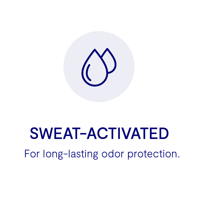 Sweat-activated deodorant, long-lasting deodorant