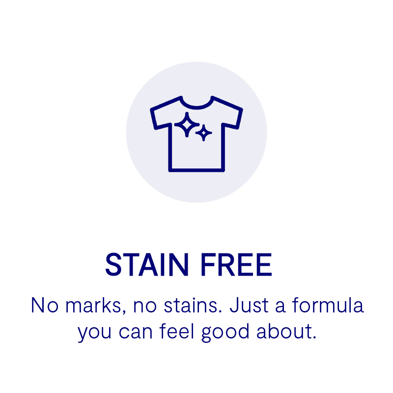 no marks, no stains