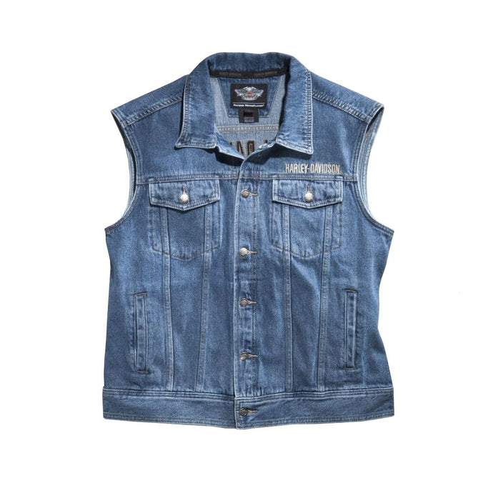 Harley-Davidson® Mens Bar & Shield® Logo Denim Vest - 99041-08Vm Vests