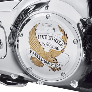 Harley-Davidson® Live To Ride Derby Cover - 25700472 Parts & Accessories