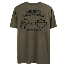 Warr's H-D® Men's Rolling Stones Military Green Short Sleeve Tee