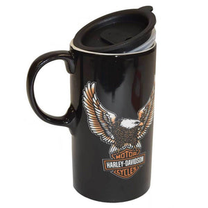 Harley-Davidson® Travel Latte Mug, Bar & Shield Eagle Tall Boy, 0.6L