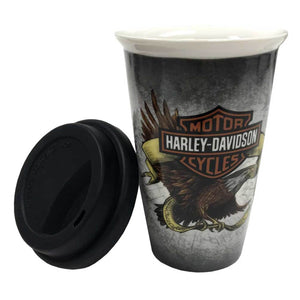 Harley-Davidson® Legendary Eagle B&S Ceramic Travel Cup w/ Lid - 0.3L
