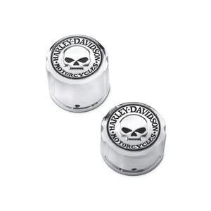 Harley-Davidson Willie G. Skull Rear Axle Nut Covers - 43221-08