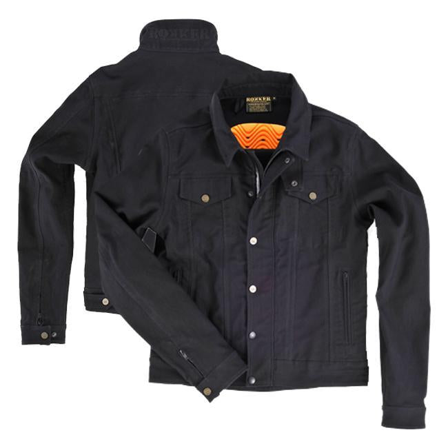 Rokker Black Jacket Riding Jackets