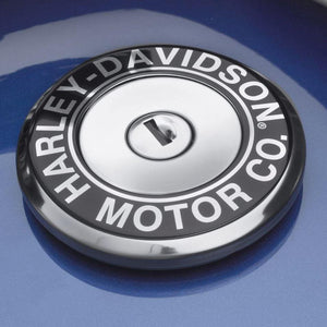 Harley-Davidson® H-D Motor Co. Script Fuel Cap Medallion - 61300585 Parts & Accessories