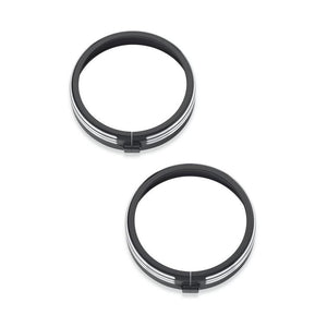 Harley-Davidson® 4 In. Defiance Auxiliary Lamp Trim Rings - 61400355 Parts & Accessories