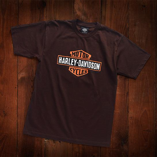 Harley-Davidson® Museum Mens Vintage Bar & Shield Tee T-Shirts