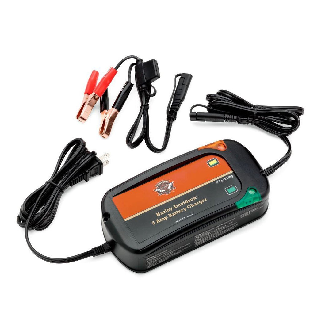 Harley-Davidson® 5 Amp Weather-Resistant Battery Tender Charger Charging Accessories