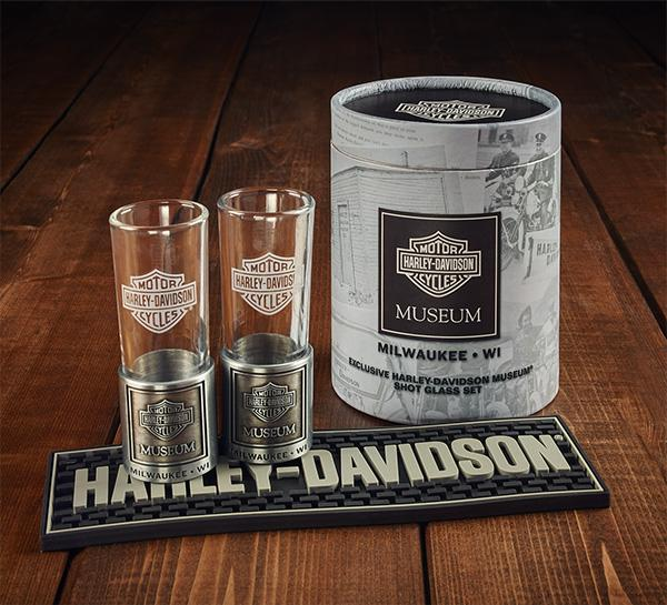 Harley-Davidson® Museum Shot Glass Set Accessories