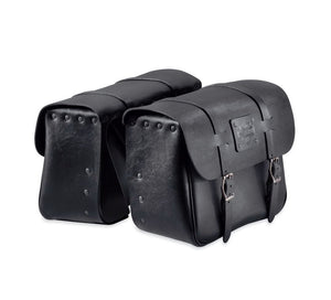 Harley-Davidson® Express Rider Large Capacity Leather Saddlebags - 90201325 Parts & Accessories