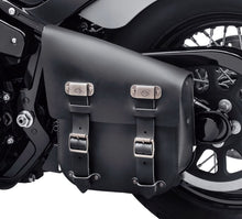 Harley-Davidson® Single Sided Swingarm Bag - Black Leather 90201567 Parts & Accessories