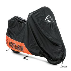 Harley-Davidson® Indoor/outdoor Motorcycle Cover H-D Orange & Black Covers Storage Accessories
