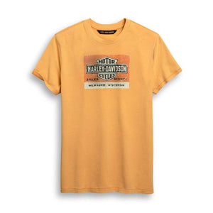 Harley-Davidson® Men's Sales & Service orange Tee