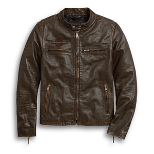 Harley-Davidson® Mens Distressed Print Leather Jacket Jackets
