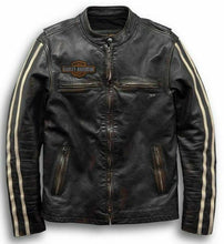 Harley-Davidson® Men's Sleeve Stripe Leather Jacket - 97048-19VM